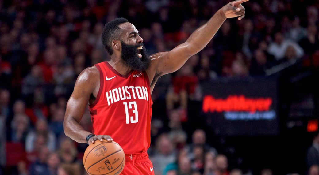 James Harden out for Rockets at Warriors with flu symptoms