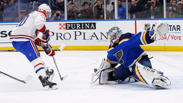 NHL-Blues-Binnington-makes-save-against-Canadiens