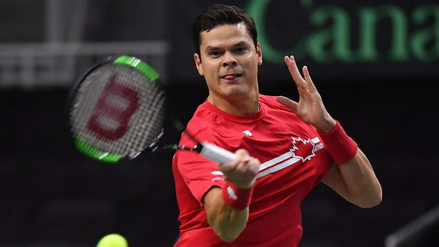 milos-raonic-plays-a-forehand-during-davis-cup-action