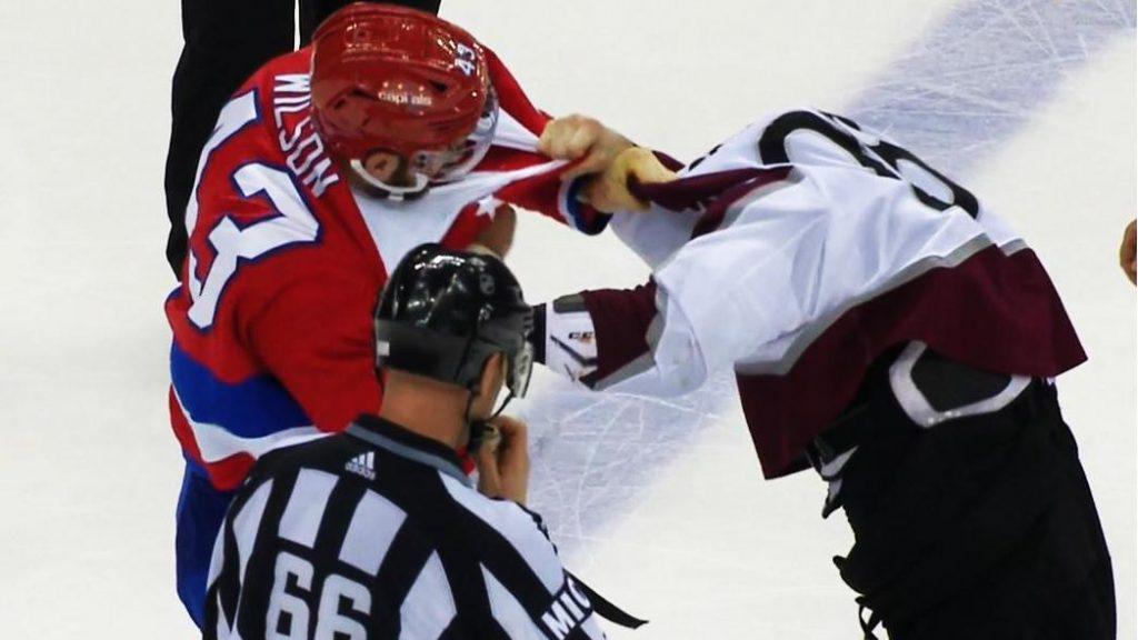 71cf61e8679 Tom Wilson destroys Ian Cole in fight after dirty play on Kuznetsov -  Sportsnet.ca