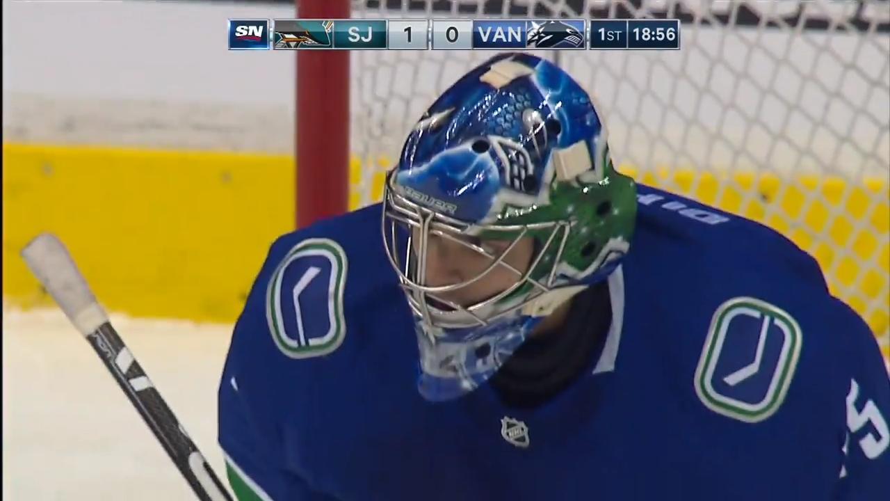 Canucks' DiPietro allows goal on first NHL shot