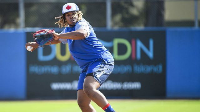 MLB-Blue-Jays-Guerrero-Jr-throws-during-spring-training