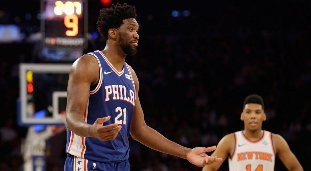 Joel Embiid Almost Takes Regina King's Head Off In Win Against Knicks