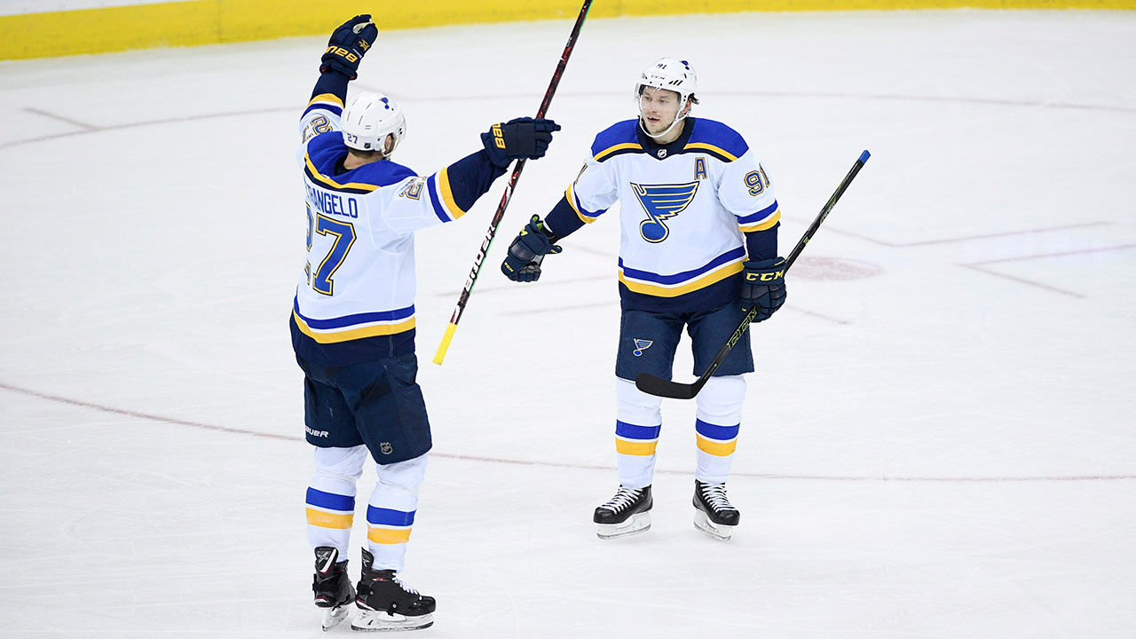 Put On Your Rally Caps. Blues' Late Push Completes Comeback Against Anaheim