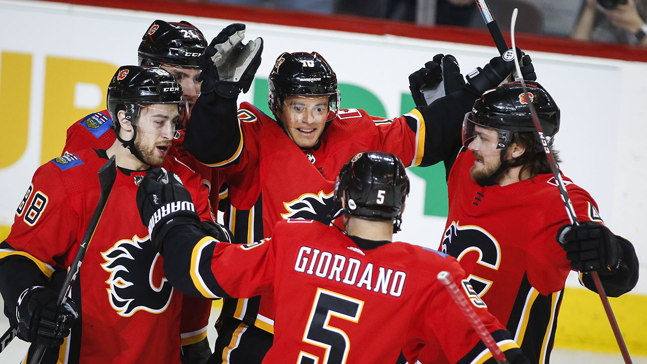 All In The Family Day. Giordano's Two Points Give Flames A Holiday Victory.