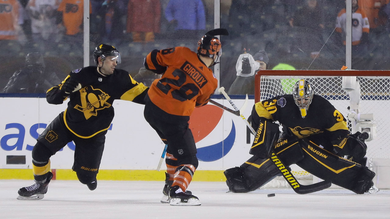 The Not-So-Great Outdoors. Flyers Beat Penguins In Soggy Stadium Series