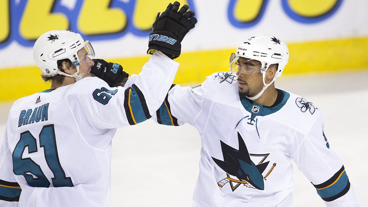 Sharks Give The Flames A Kaning In Calgary
