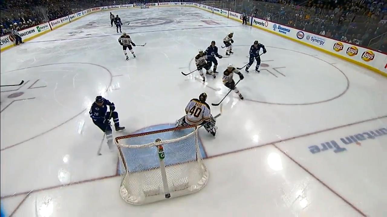 Jets' Wheeler uses hand-eye coordination, reacts quickest to beat Rask