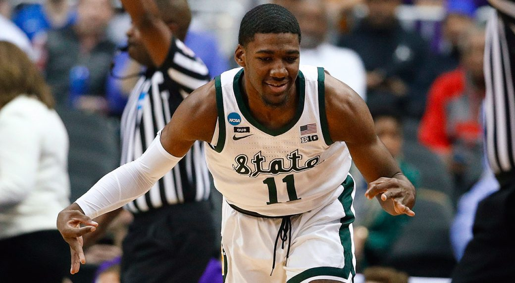 Freshmen lead Michigan State past LSU and into Elite Eight