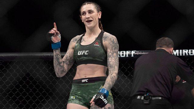 Megan-Anderson-celebrates-ufc-win