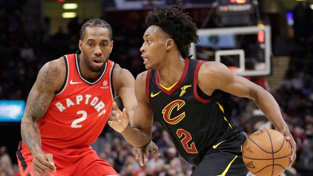 NBA-Cavaliers-Sexton-drives-against-Raptors