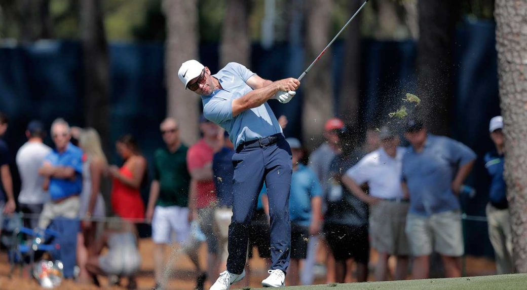 Defending champ Casey grabs share of PGA lead as Donald lurks