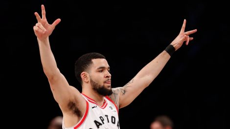 Raptors-VanVleet-celebrates-after-three-pointer
