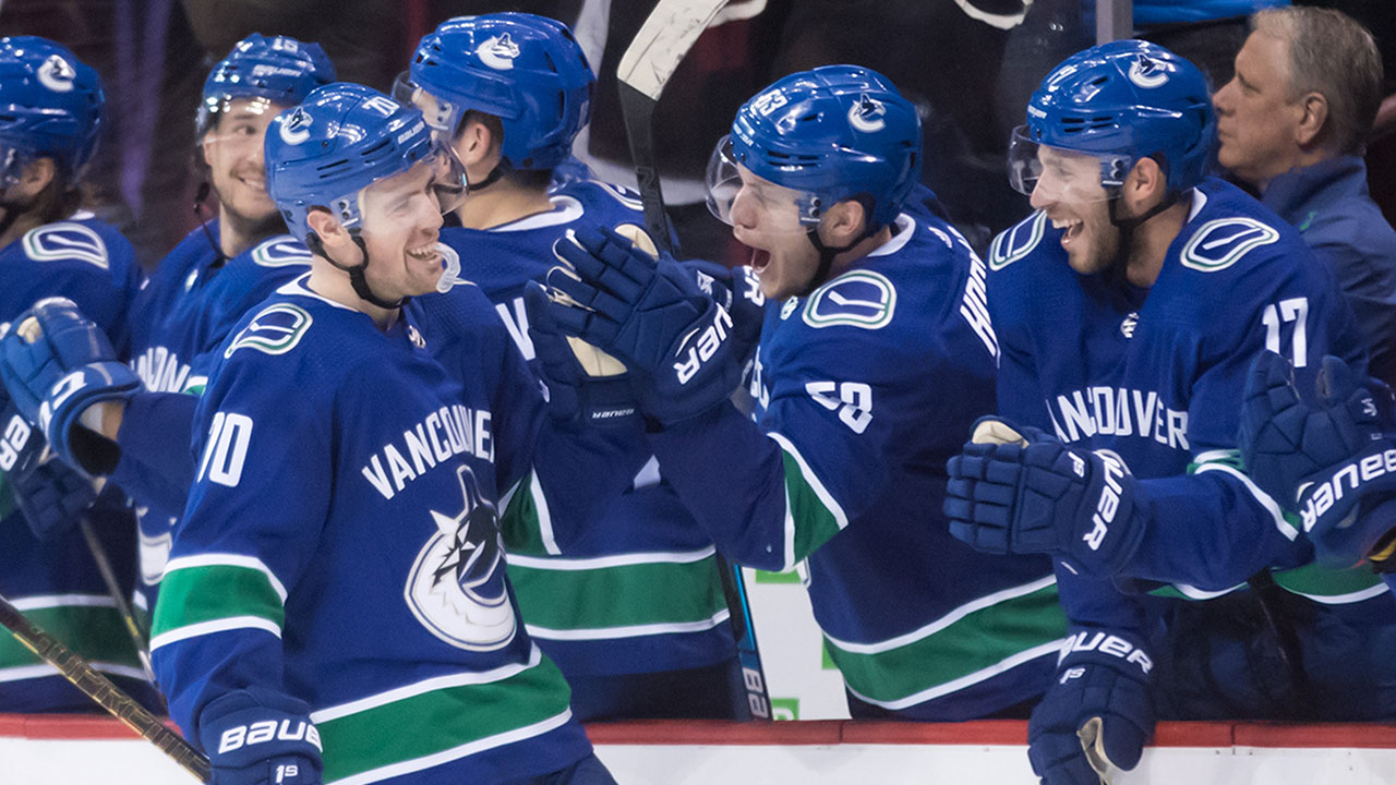 Comeback Kids. Vancouver Scores 3 In The Third For Big Victory Over The Sharks