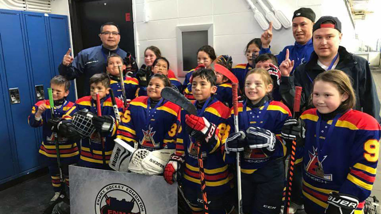 Enoch Cree Hockey Association novice Edmonton city champions