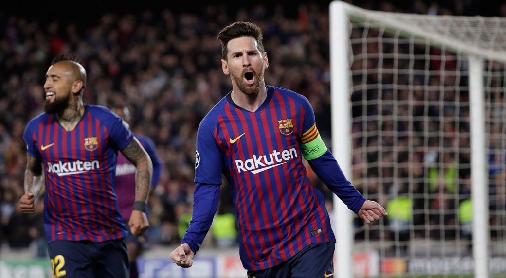 Messi leads demolition of Lyon to take Barca to Champions League quarters