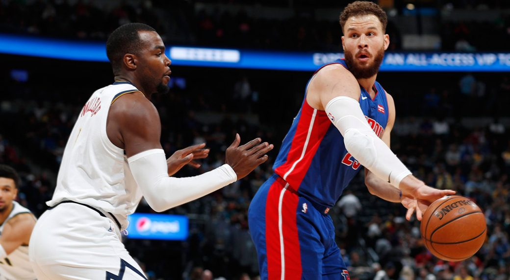 All-Star Blake Griffin remains sidelined for the Pistons