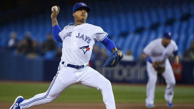 MLB-Blue-Jays-Stroman-throws-against-Orioles