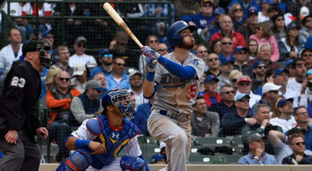 MLB-Dodgers-Bellinger-hits-sacrifice-fly-against-Cubs