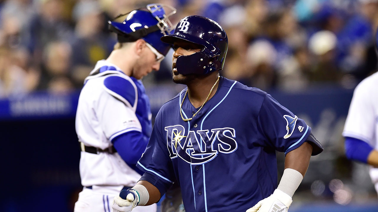 Pinch-hitter Guillermo Heredia's home run helps Rays topple Blue Jays