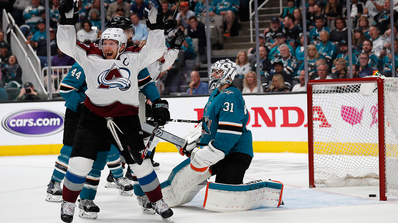 Three-pointer. Barrie's 1 + 2 helps Avs square the series heading back to Denver