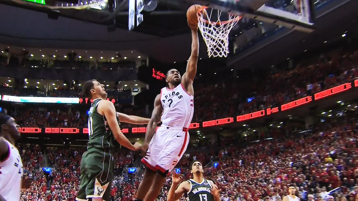 Kawhi Leonard posterizes Nikola Mirotic with dunk in double OT