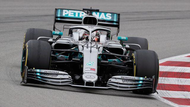 Auto-racing-Hamilton-drives-during-practice