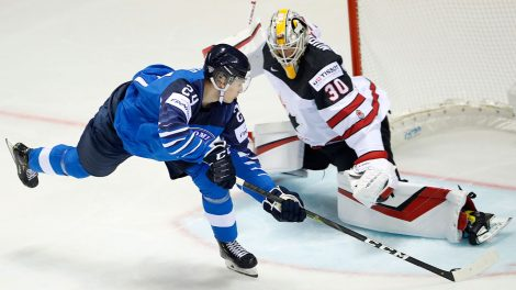 Finland-Kaapo-Kakko-scores-goal-on-Canada-matt-murray-at-iihf-world-championship