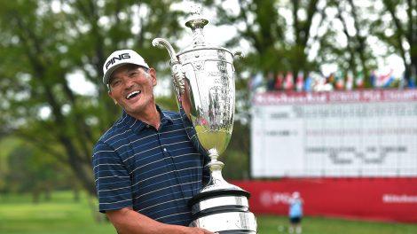 Golf-PGA-Ken-Tanigawa-celebrates-PGA-championship-win