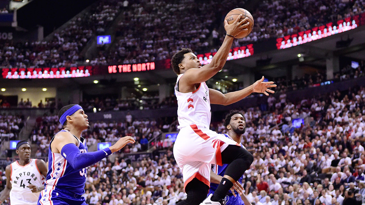 0515f2ca377 Lowry: Sprained thumb will be 'mind over matter' vs. Bucks. Eric Smith  caught up with Raptors ...