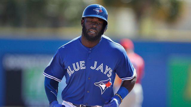 MLB-Blue-Jays-Alford-celebrates-home-run-in-spring-training