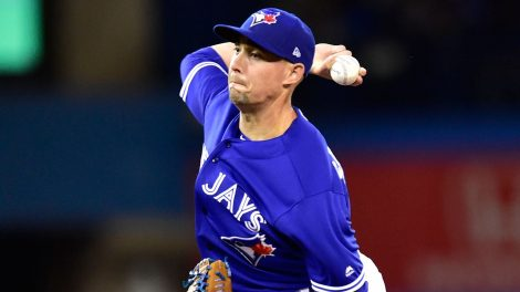 MLB-Blue-Jays-Sanchez-throws-against-Tigers