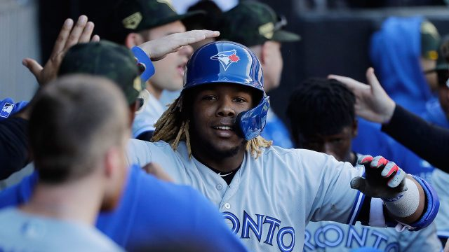 MLB-Blue-Jays-Vlad-Guerrero-Jr-celebrates-home-run-against-White-Sox