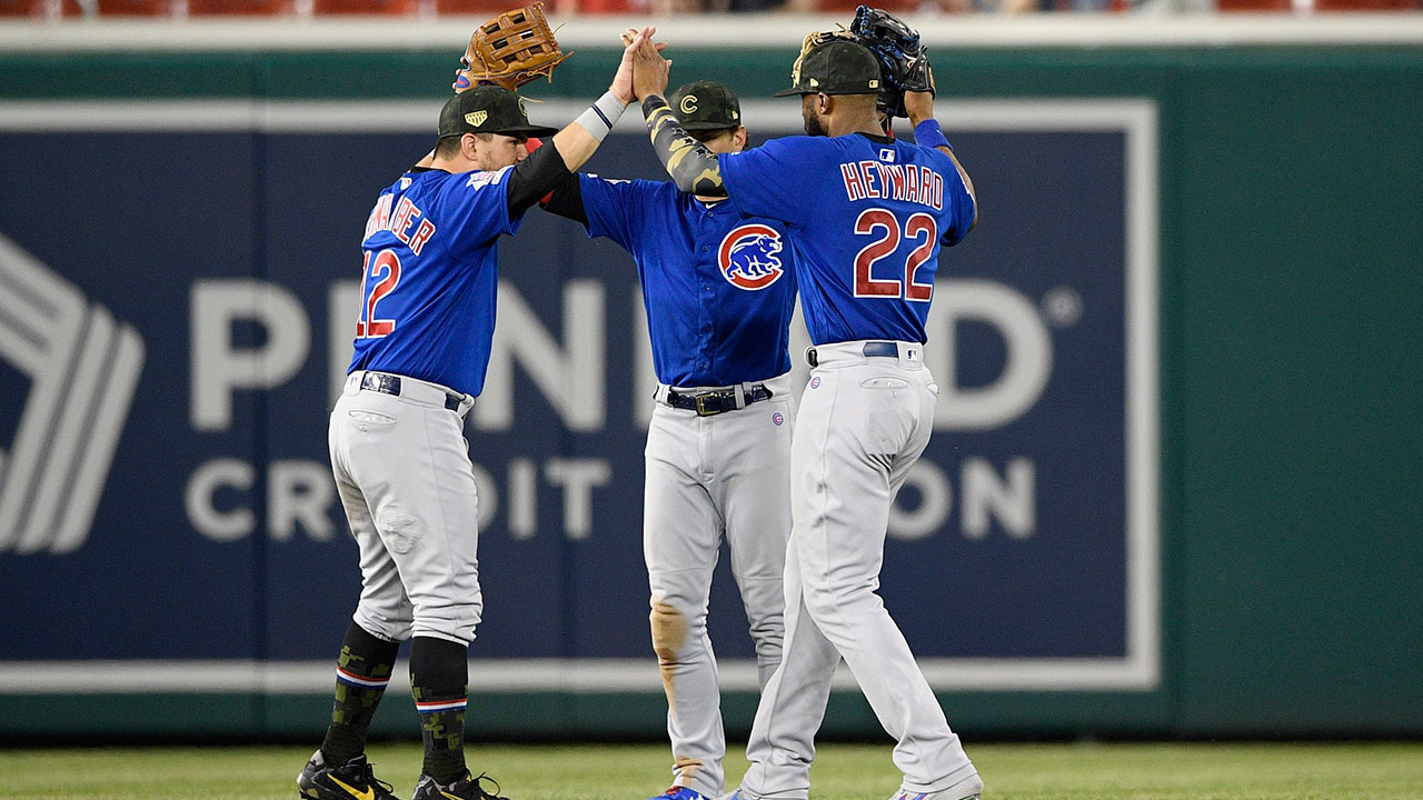 Mlb-cubs-outfield-celebrates-after-win