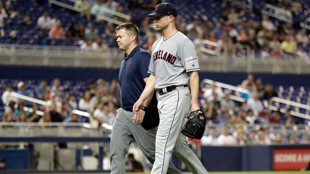 MLB-Indians-Kluber-leaves-game-against-Marlins