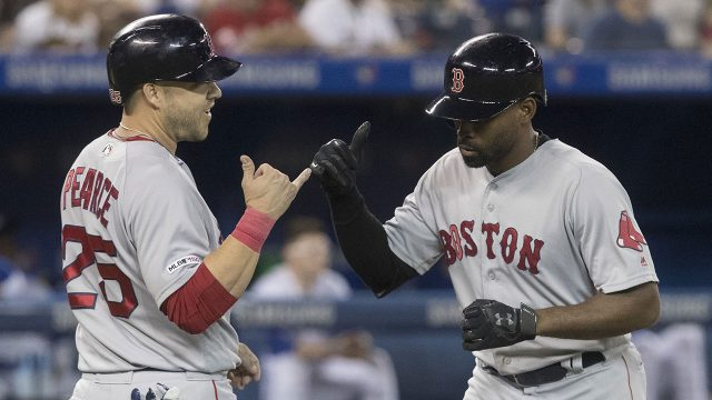 MLB-Red-Sox-Bradley-Jr-celebrates-home-run