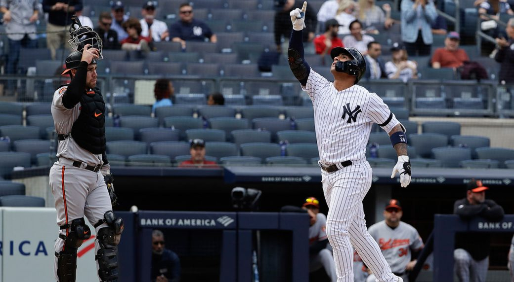 MLB-Yankees-Torres-celebrates-after-home-run-against-Orioles