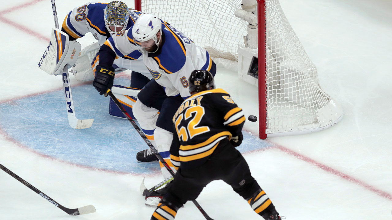 Good start for St. Louis but a better finish for Boston. Bruins take Game 1