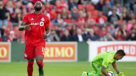 Soccer-TFC-altidore-reacts-after-Laryea-shot-goes-wide