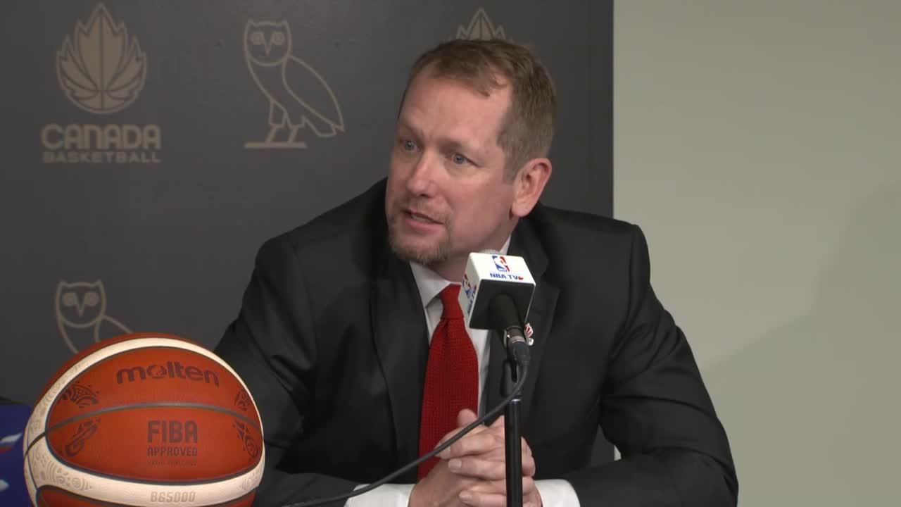 Nick Nurse thinks Canada's basketball talent is the best ever