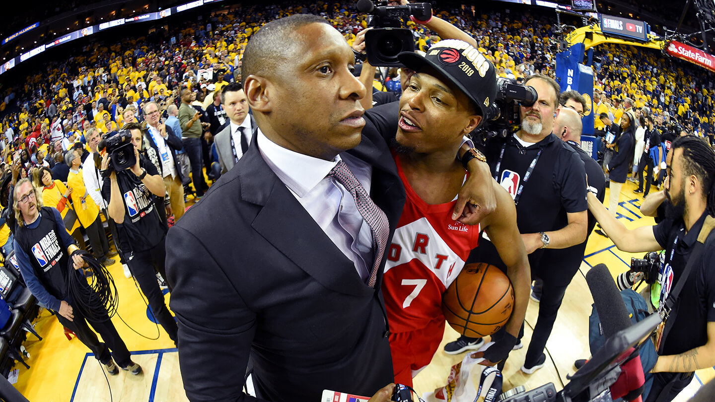 masai-ujiri-and-kyle-lowrycommiserate-after-the-toronto-raptors-win-their-first-nba-championship