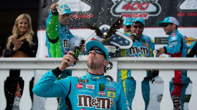 Auto-racing-Busch-celebrates-after-win