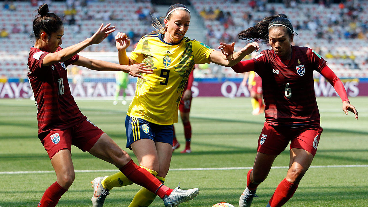 Soccer-womens-world-cup-thailand-plays-sweden