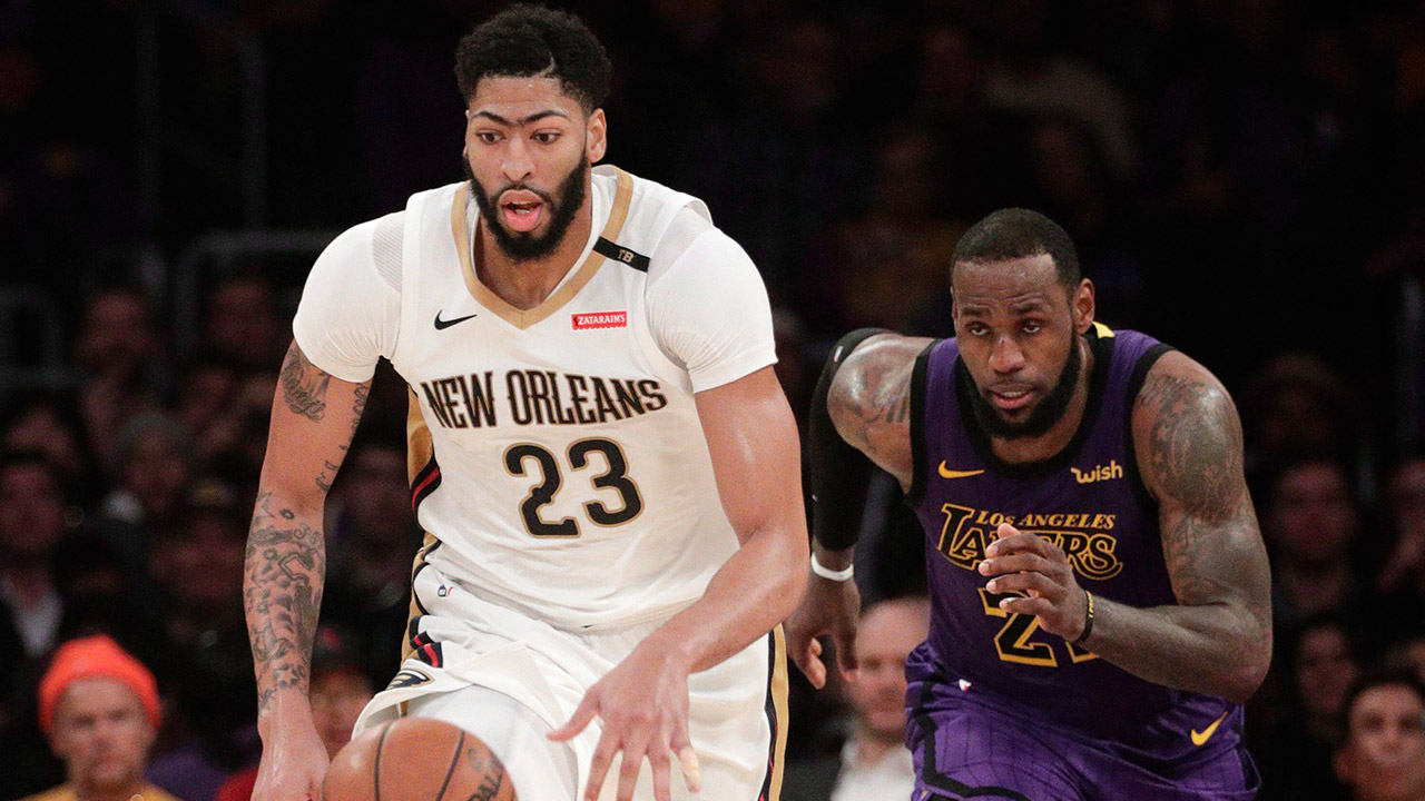 Image result for LeBron James Gifts New Teammate Anthony Davis the No. 23 on His Jersey
