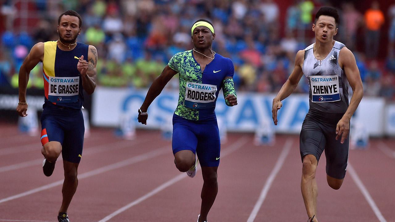 Canadian sprinter De Grasse wins 200 gold, 100 silver at Golden Spike