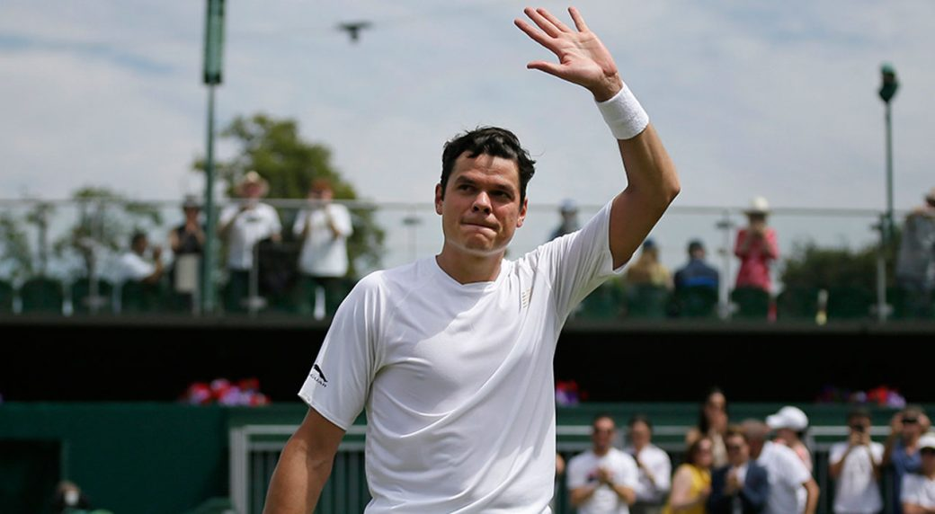 Raonic advances, Auger Aliassime eliminated at Wimbledon